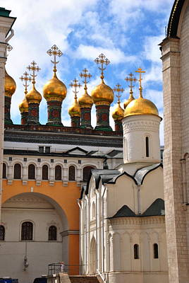 Photograph -  Cathedral Square - Kremlin by Jacqueline M Lewis