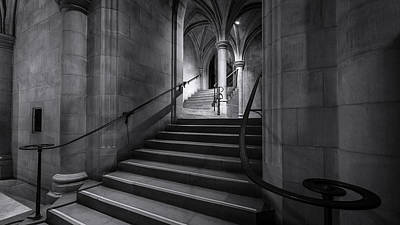 Cathedral Stairwell Art Print by Michael Donahue