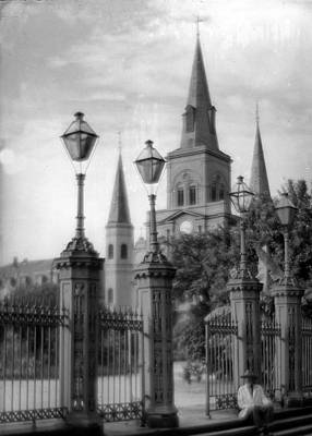 Photograph - Cathedral Through Gateway by Crescent City Collective
