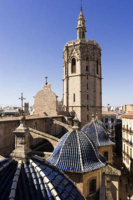 Cathedral Valencia Micalet Tower Art Print