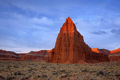 Photograph - Cathedral Valley Morning Glow by Johnny Adolphson