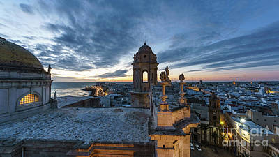 Photograph - Cathedral View From Levante Tower Cadiz Spain by Pablo Avanzini