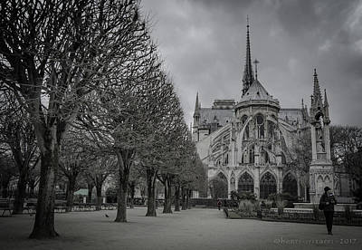 Photograph - Cathedrale Notre Dame De Paris by Henri Irizarri