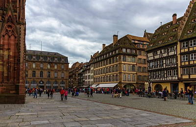 Photograph - Cathedrale Notre-dame Or Our Lady Place, Strasbourg, France by Elenarts - Elena Duvernay photo
