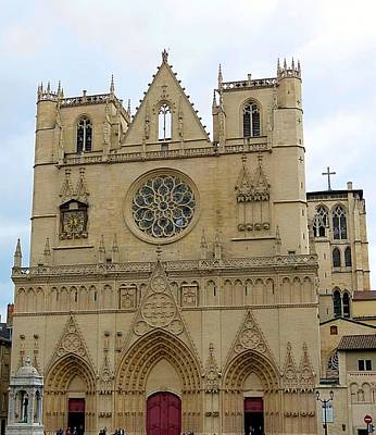 Photograph - Cathedrale Primatiale Saint Jean by Betty Buller Whitehead