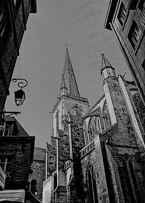 Art Print featuring the photograph Cathedrale St. Vincent  by Elf Evans