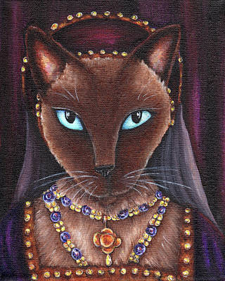 Catherine Howard Painting - Catherine Howard Cat by Tara Fly