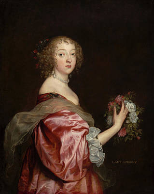 Baroque Painting - Catherine Howard, Lady D'aubigny by Anthony van Dyck