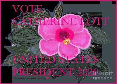 Painting - Catherine Lott Presidential Candidate 2020 Valentines 2017 by Catherine Lott