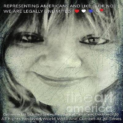 Painting - Catherine Lott United States Presidnetial Candidate Election 2020 by Catherine Lott
