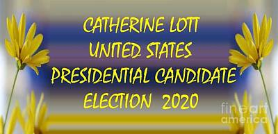 Painting - Catherine Lott Us Presidential Candidateelection 2020 Yellow by Catherine Lott