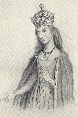 Catherine Of Valois 1401 To 1437. Queen Art Print by Vintage Design Pics