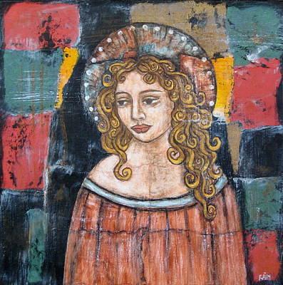 Christian Art . Devotional Art Painting - Catherine by Rain Ririn