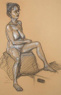 Drawing - Catherine Seated by Donelli  DiMaria