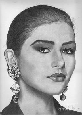 Drawing - Catherine Zeta Jones by Karen Townsend