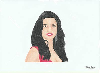 Catherine Zeta Jones Art Print