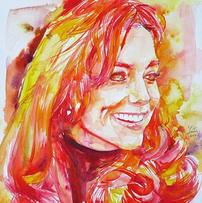 Middleton Painting - Catherine,duchess Of Cambridge - Watercolor Portrait.6 by Fabrizio Cassetta