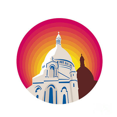 Public Administration Digital Art - Catholic Church Dome Circle Wpa by Aloysius Patrimonio