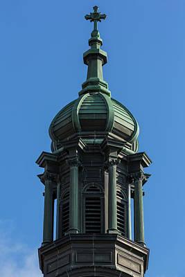 Giuseppe Cristiano Royalty Free Images - Catholic Church Tower 1 B Royalty-Free Image by John Brueske