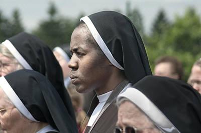 Photograph - Catholic Nun by Don Wolf