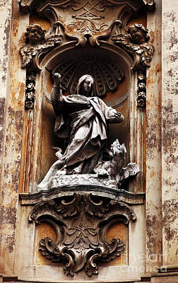 Photograph - Catholic Statue by John Rizzuto