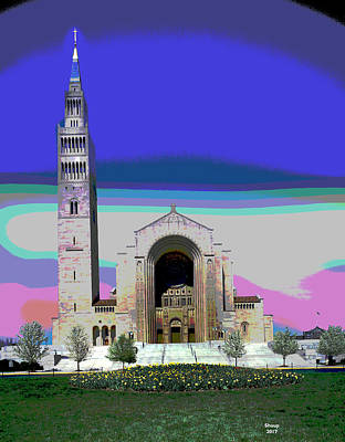 Immaculate Mixed Media - Catholic University by Charles Shoup