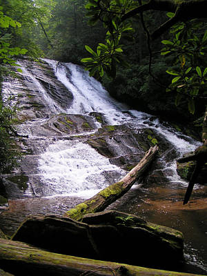 Photograph - Cathy's Creek Waterfall - North Carolina by rd Erickson
