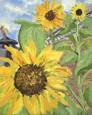 Wall Art - Painting - Cathy's Sunflowers by Katherine Farrell