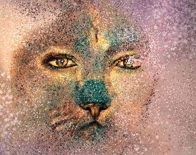 Digital Art - Catlady Splatter Art by Artful Oasis