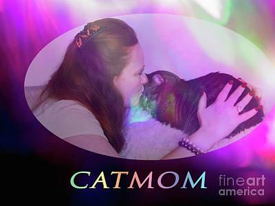Digital Art - Catmom by Donna L Munro