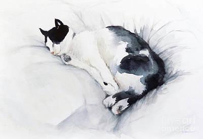 Painting - Catnap 1-2 by Yoshiko Mishina