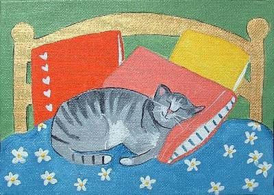 Catnap Art Print by Christine Quimby