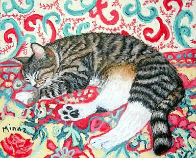 Catnap Painting - Catnap Time by Minaz Jantz