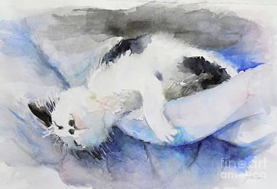 Painting - Catnap2-1 by Yoshiko Mishina
