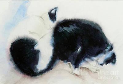 Painting - Catnap3-1 by Yoshiko Mishina