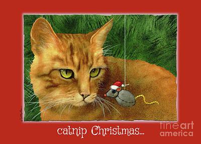 Mice Painting - Catnip Christmas... by Will Bullas