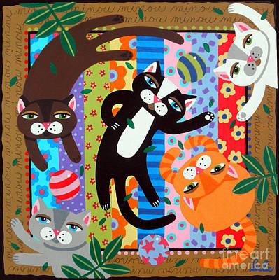 Catnip Painting - Catnip Party by LuLu Mypinkturtle