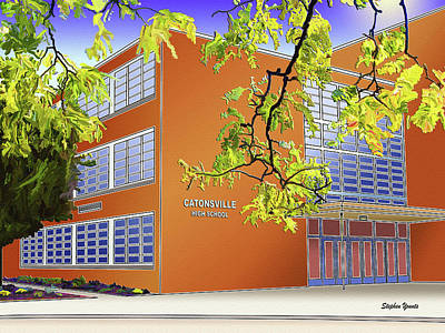 Catonsville Senior High School Art Print