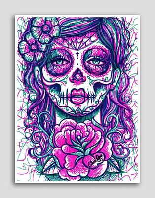 Catrina Dead  Art Print