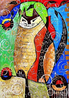Digital Art - Cats 44012 by Marek Lutek