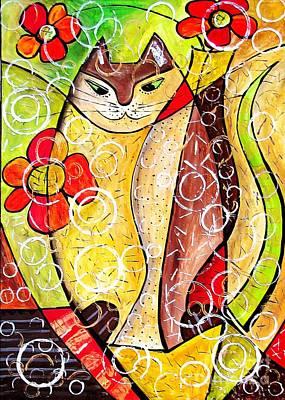 Digital Art - Cats 4409 by Marek Lutek