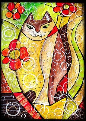 Digital Art - Cats 4410 by Marek Lutek