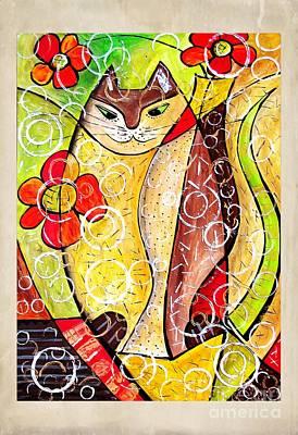 Digital Art - Cats 4411 by Marek Lutek