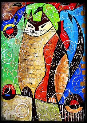 Digital Art - Cats 4413 by Marek Lutek