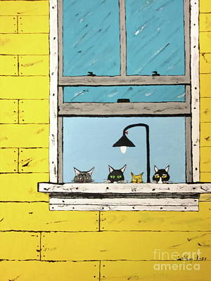 Painting - Cats Daydreaming by Jeffrey Koss