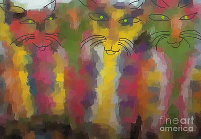 Cats Art Print by Don Phillips