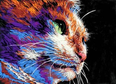 Lynee Sapere Wall Art - Painting - Cat's Eye by Lynee Sapere