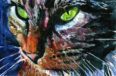 Painting - Cats Eyes 11 by John D Benson