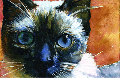 Painting - Cats Eyes 13 by John D Benson