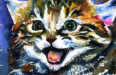 Painting - Cats Eyes 15 by John D Benson